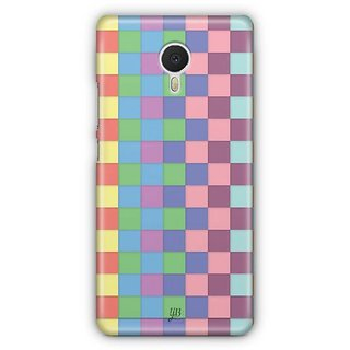YuBingo Colourful Square Patterns Designer Mobile Case Back Cover for Meizu M3 Note