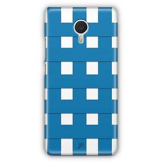 YuBingo Blue Square Pattern Designer Mobile Case Back Cover for Meizu M3 Note