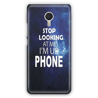 YuBingo Stop Looking at Me Designer Mobile Case Back Cover for Meizu M3 Note