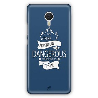 YuBingo Routine is Lethal Designer Mobile Case Back Cover for Meizu M3 Note