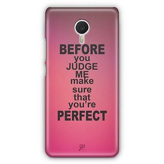 YuBingo Make sure you're perfect Designer Mobile Case Back Cover for Meizu M3 Note