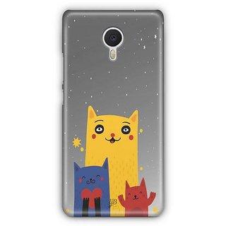 YuBingo Family of Cats Designer Mobile Case Back Cover for Meizu M3 Note