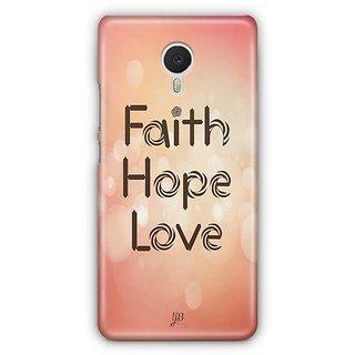 YuBingo Faith. Hope. Love. Designer Mobile Case Back Cover for Meizu M3 Note