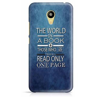 YuBingo The World is a Book. Those Who Don't Travel, Read only one Page Designer Mobile Case Back Cover for Meizu M3