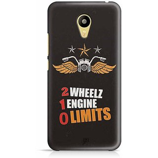 YuBingo 2 Wheels, 1 Engine, 0 Limits Designer Mobile Case Back Cover for Meizu M3