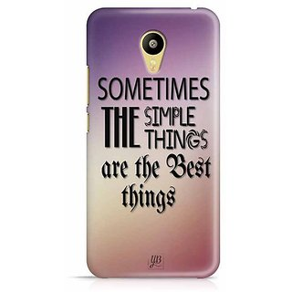 YuBingo Sometimes, the Simple Things are the Best Things Designer Mobile Case Back Cover for Meizu M3