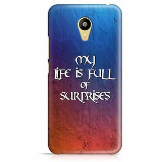 YuBingo My Life is Full of Surprises Designer Mobile Case Back Cover for Meizu M3