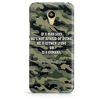 YuBingo Indian Army Quote Designer Mobile Case Back Cover for Meizu M3