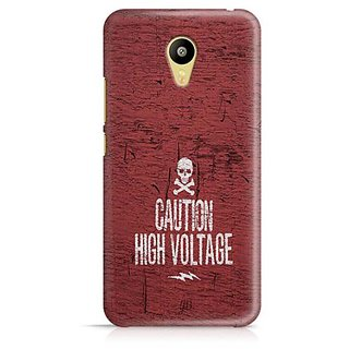YuBingo Caution High Voltage Designer Mobile Case Back Cover for Meizu M3