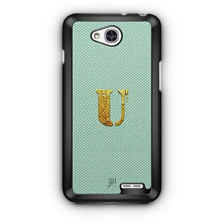 YuBingo Monogram with Beautifully Written Paint Finish letter U Designer Mobile Case Back Cover for LG L90