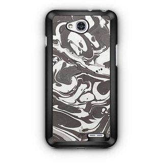 YuBingo Grey White Marble Finish (Plastic) Designer Mobile Case Back Cover for LG L90