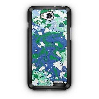 YuBingo Blue Green Marble Finish (Plastic) Designer Mobile Case Back Cover for LG L90