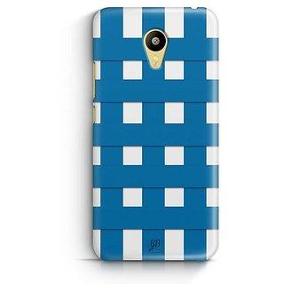YuBingo Blue Square Pattern Designer Mobile Case Back Cover for Meizu M3