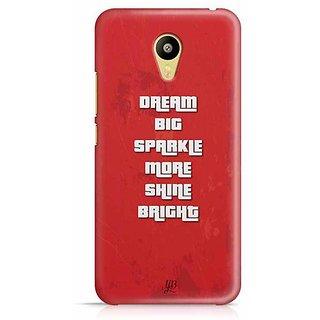 YuBingo Dream Big, Sparkle More, Shine Bright Designer Mobile Case Back Cover for Meizu M3