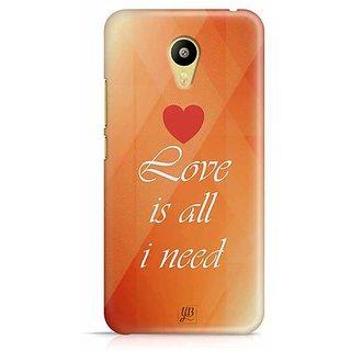 YuBingo Love is all I Need Designer Mobile Case Back Cover for Meizu M3