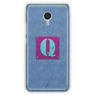 YuBingo Monogram with Beautifully Written Jeans and Girly Leather Finish letter Q Designer Mobile Case Back Cover for Meizu M3 Note
