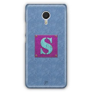YuBingo Monogram with Beautifully Written Jeans and Girly Leather Finish letter S Designer Mobile Case Back Cover for Meizu M3 Note