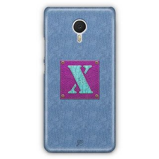 YuBingo Monogram with Beautifully Written Jeans and Girly Leather Finish letter X Designer Mobile Case Back Cover for Meizu M3 Note