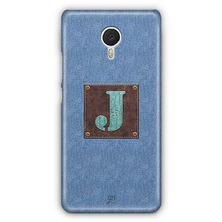 YuBingo Monogram with Beautifully Written Jeans and Macho Male Leather Finish letter J Designer Mobile Case Back Cover for Meizu M3 Note