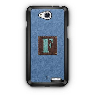 YuBingo Monogram with Beautifully Written Jeans and Macho Male Leather Finish letter F Designer Mobile Case Back Cover for LG L90