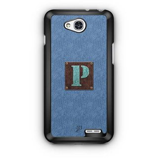 YuBingo Monogram with Beautifully Written Jeans and Macho Male Leather Finish letter P Designer Mobile Case Back Cover for LG L90