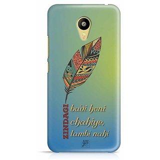 YuBingo Zindagi Badi Honi Chahiye, Lambi Nahin Designer Mobile Case Back Cover for Meizu M3