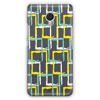 YuBingo Colourful rectangular patterns Designer Mobile Case Back Cover for Meizu M3 Note