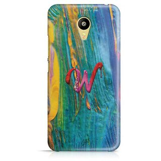 YuBingo Monogram with Beautifully Written Funky Colourful Paint Finish letter W Designer Mobile Case Back Cover for Meizu M3
