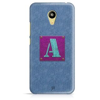 YuBingo Monogram with Beautifully Written Jeans and Girly Leather Finish letter A Designer Mobile Case Back Cover for Meizu M3
