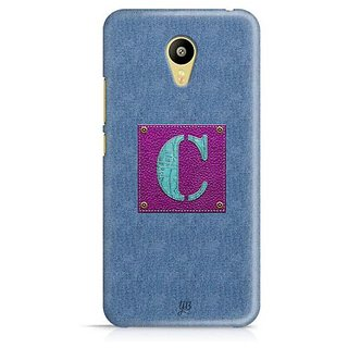 YuBingo Monogram with Beautifully Written Jeans and Girly Leather Finish letter C Designer Mobile Case Back Cover for Meizu M3