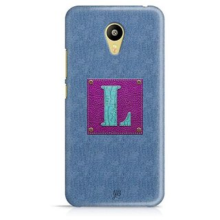 YuBingo Monogram with Beautifully Written Jeans and Girly Leather Finish letter L Designer Mobile Case Back Cover for Meizu M3