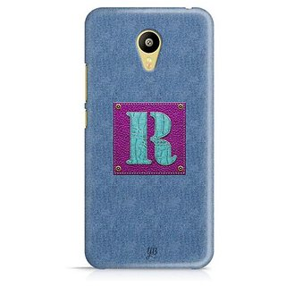 YuBingo Monogram with Beautifully Written Jeans and Girly Leather Finish letter R Designer Mobile Case Back Cover for Meizu M3