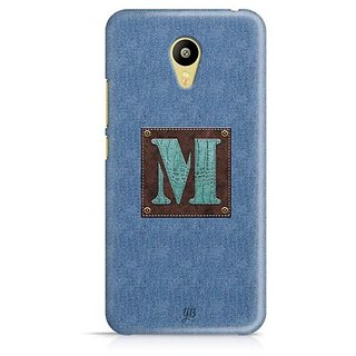 YuBingo Monogram with Beautifully Written Jeans and Macho Male Leather Finish letter M Designer Mobile Case Back Cover for Meizu M3