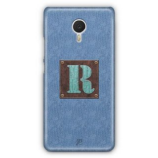YuBingo Monogram with Beautifully Written Jeans and Macho Male Leather Finish letter R Designer Mobile Case Back Cover for Meizu M3 Note