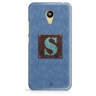 YuBingo Monogram with Beautifully Written Jeans and Macho Male Leather Finish letter S Designer Mobile Case Back Cover for Meizu M3