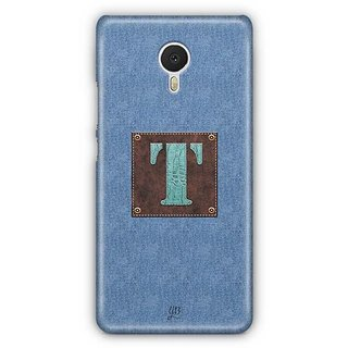 YuBingo Monogram with Beautifully Written Jeans and Macho Male Leather Finish letter T Designer Mobile Case Back Cover for Meizu M3 Note