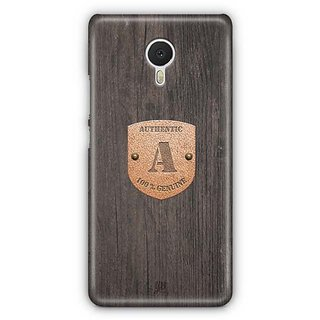 YuBingo Monogram with Beautifully Written Wooden and Metal (Plastic) Finish letter A Designer Mobile Case Back Cover for Meizu M3 Note