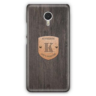 YuBingo Monogram with Beautifully Written Wooden and Metal (Plastic) Finish letter K Designer Mobile Case Back Cover for Meizu M3 Note
