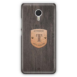 YuBingo Monogram with Beautifully Written Wooden and Metal (Plastic) Finish letter T Designer Mobile Case Back Cover for Meizu M3 Note