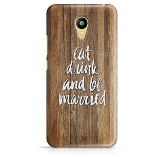 YuBingo Eat, Drink and be Married Designer Mobile Case Back Cover for Meizu M3