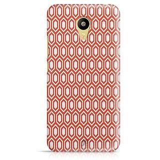 YuBingo Red hexagon pattern Designer Mobile Case Back Cover for Meizu M3