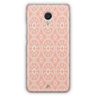 YuBingo Orange and white rangoli design Designer Mobile Case Back Cover for Meizu M3 Note