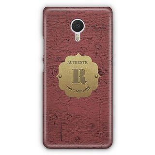 YuBingo Monogram with Beautifully Written Wooden and Metal (Plastic) Finish letter R Designer Mobile Case Back Cover for Meizu M3 Note