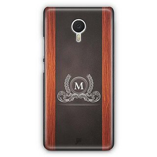 YuBingo Monogram with Beautifully Written Wooden and Leather (Plastic) Finish letter M Designer Mobile Case Back Cover for Meizu M3 Note