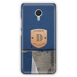 YuBingo Monogram with Beautifully Written Wooden and Metal (Plastic) Finish letter D Designer Mobile Case Back Cover for Meizu M3 Note