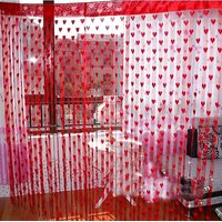 Deal Wala Romantic Red Heart Curtain - 1 Pc