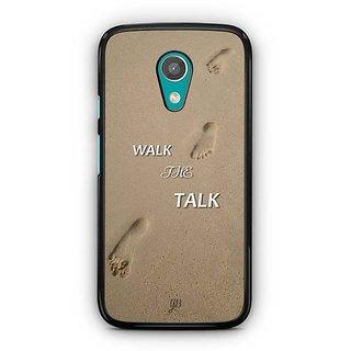 YuBingo Walk the Talk Designer Mobile Case Back Cover for Motorola G2