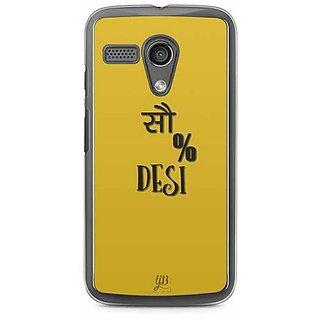 YuBingo 100% Desi Designer Mobile Case Back Cover for Motorola G