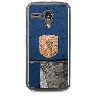 YuBingo Monogram with Beautifully Written Wooden and Metal (Plastic) Finish letter N Designer Mobile Case Back Cover for Motorola G