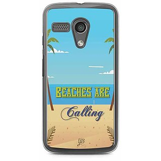YuBingo Beaches are Calling Designer Mobile Case Back Cover for Motorola G